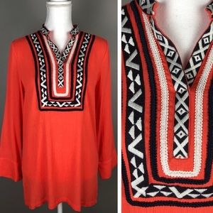 Stitch fix THML coral Alasia tunic blouse size S